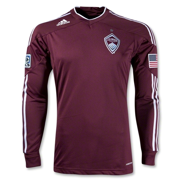 Colorado Rapids 2012 Long Sleeve Authentic Home Soccer Jersey