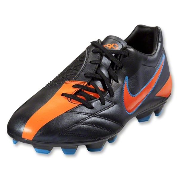 Nike T90 Shoot IV FG (Black/Total Orange/Blue Glow)