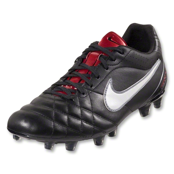 Nike Tiempo Flight FG (Black/White/Metallic Gray/Red)