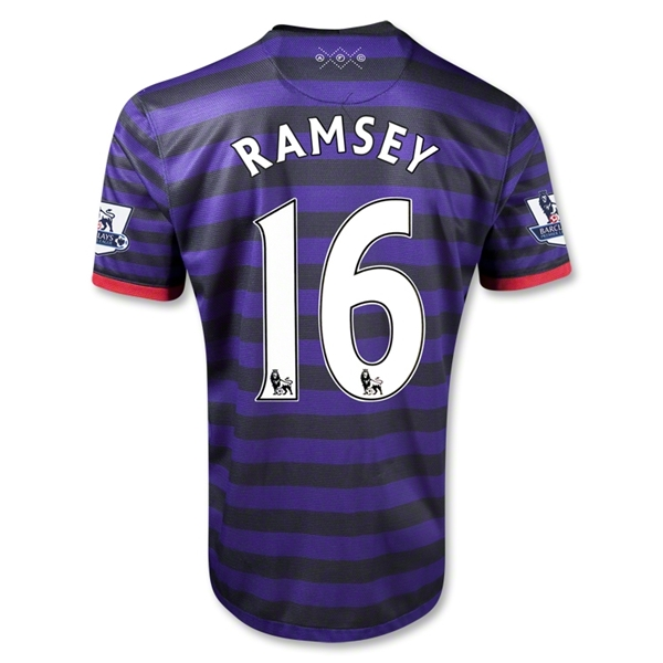 Arsenal 12/13 RAMSEY Away Soccer Jersey