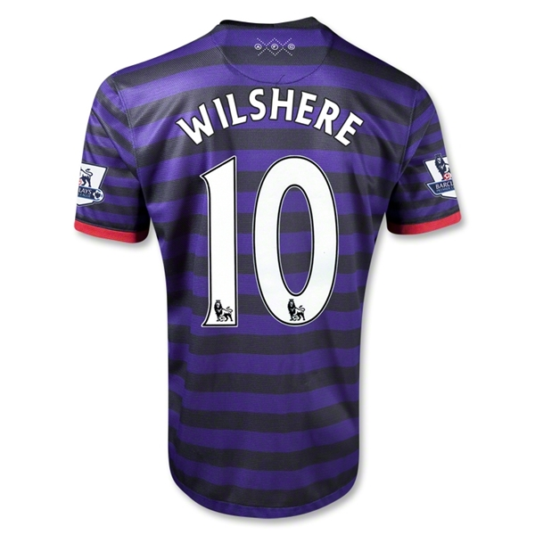 Arsenal 12/13 WILSHERE Away Soccer Jersey