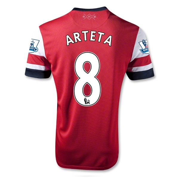 Arsenal 12/14 ARTETA Home Soccer Jersey
