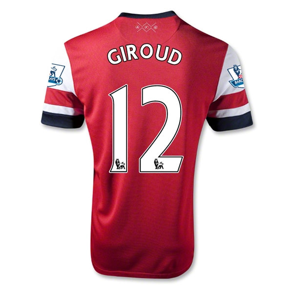 Arsenal 12/14 GIROUD Home Soccer Jersey