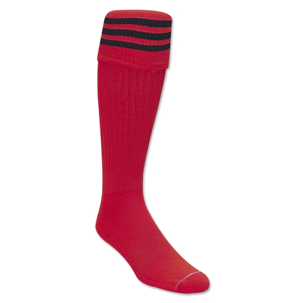 Three-Stripe Socks (Red/Black)
