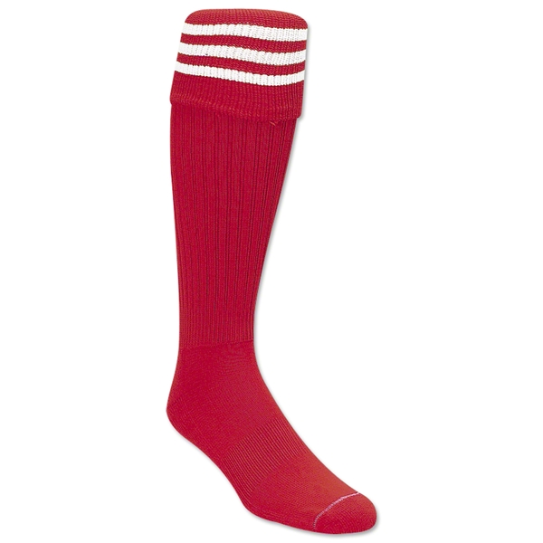 Three-Stripe Socks (Red/White)