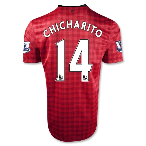 Manchester United 12/13 CHICHARITO Youth Home Soccer Jersey