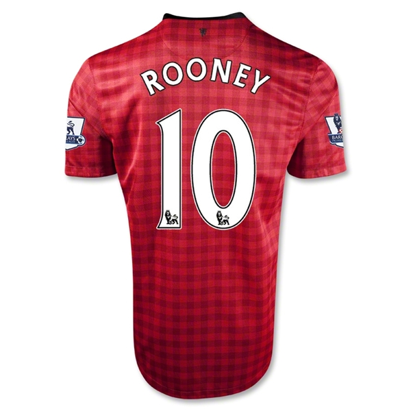 Manchester United 12/13 ROONEY Youth Home Soccer Jersey