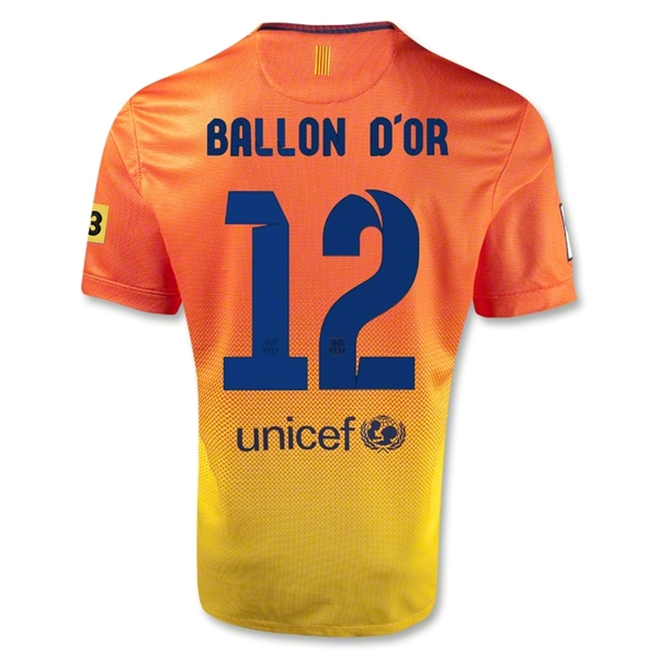 Barcelona 12/13 Messi Ballon d'Or Away Soccer Jersey