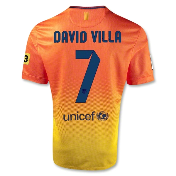 Barcelona 12/13 DAVID VILLA Away Soccer Jersey