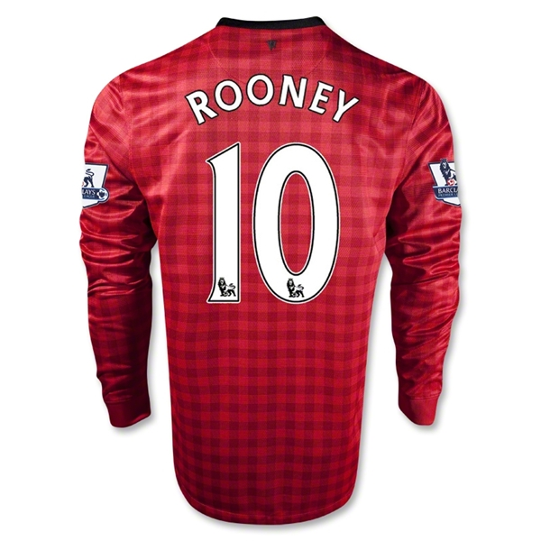Manchester United 12/13 ROONEY Home Soccer Jersey