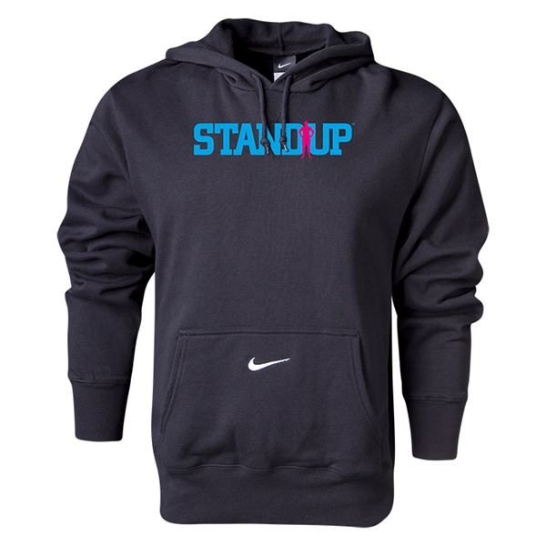 Nike StandUp Electric Blue Logo Core Hoody (Black)