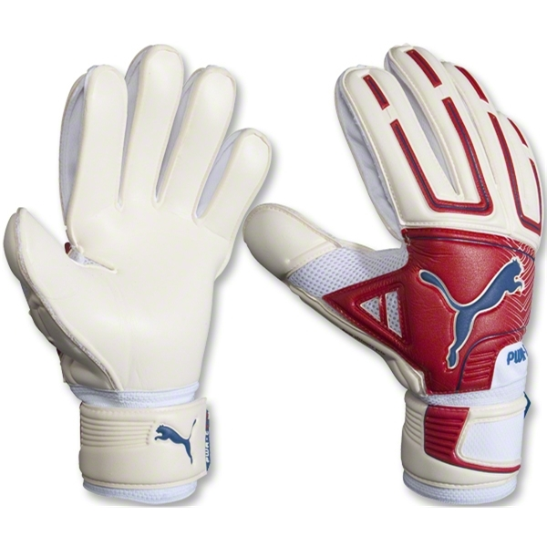 PUMA Powercat 2.12 Grip RC Glove (White/Red)