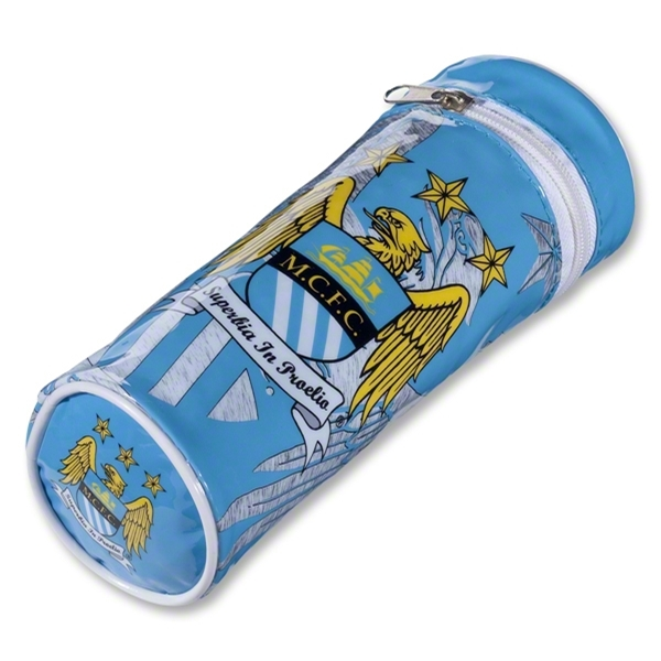 Manchester City Barrel Pencil Case