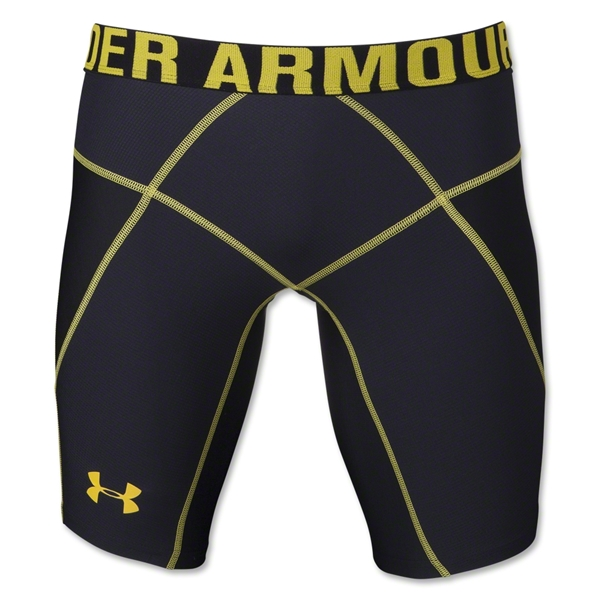 Under Armour HeatGear Core Short Lite (Blk/Yellow)