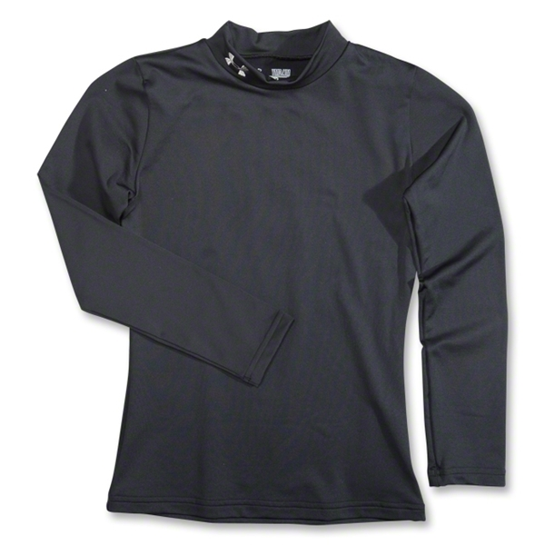 Under Armour Youth EVO Coldgear Fitted Mock (Black)