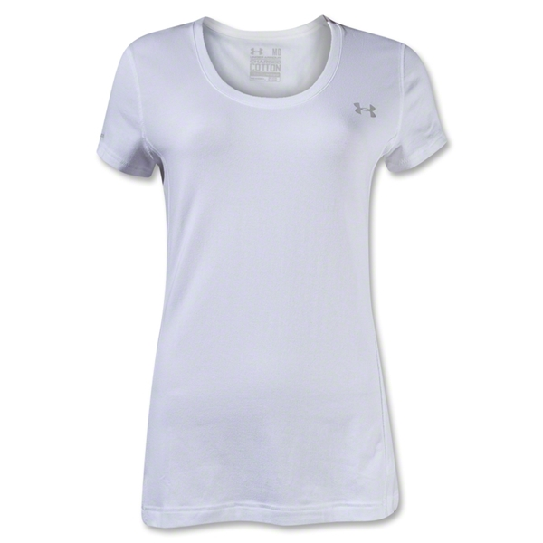Under Armour Women's Charged Cotton Scoop T-Shirt (White)