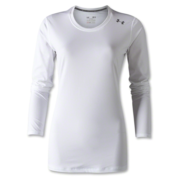 Under Armour Women's Hotshot Heatgear LS T-Shirt (White)