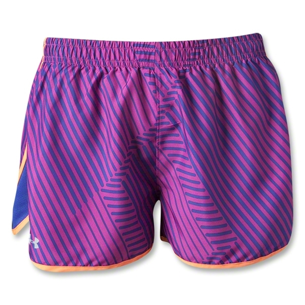 Under Armour Women's Printed TG UA Escape 3 Short (Purple)