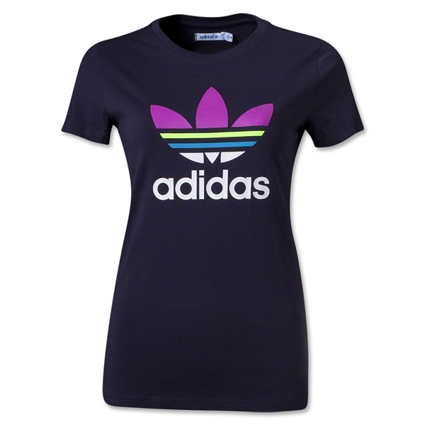adidas Originals Women's adi Trefoil T-Shirt (Purple)