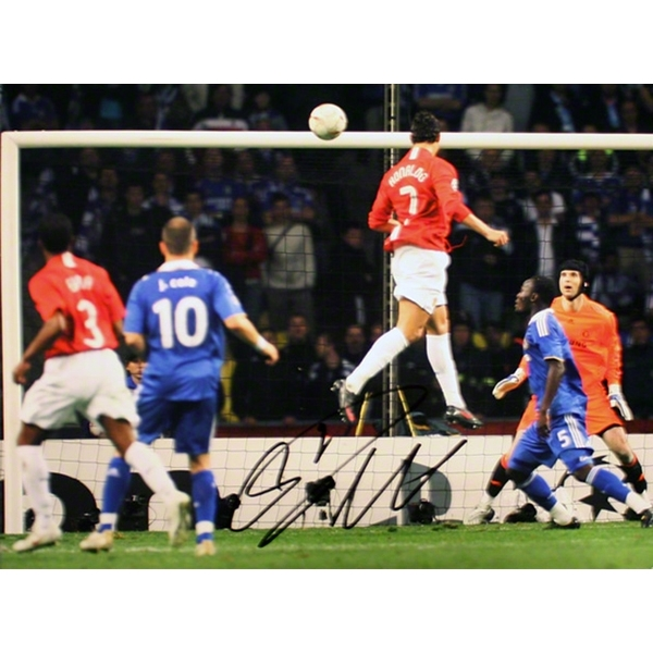 ICONS Signed Cristiano Ronaldo Manchester United 2008 UCL Final Goal Photo