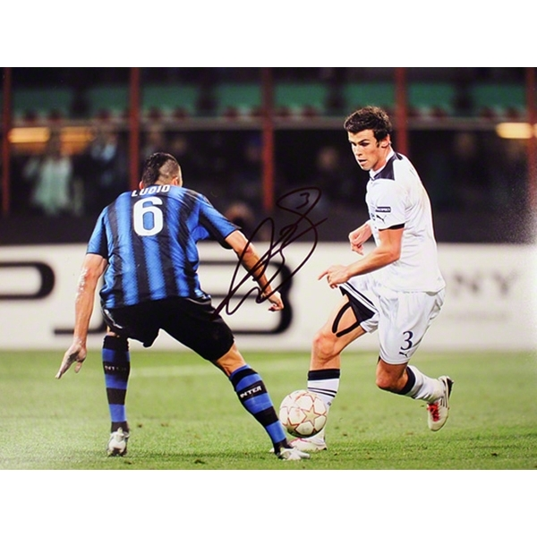 ICONS Signed Gareth Bale Tottenham vs. Inter Milan Photo