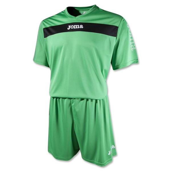 Joma Academy Short Sleeve Soccer Kit (Green)