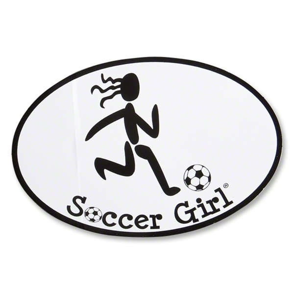 Soccer Girl Oval Decal
