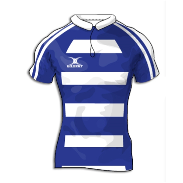 Gilbert Modern Hooped Premier Custom Jersey (Royal/White- Set of 22)