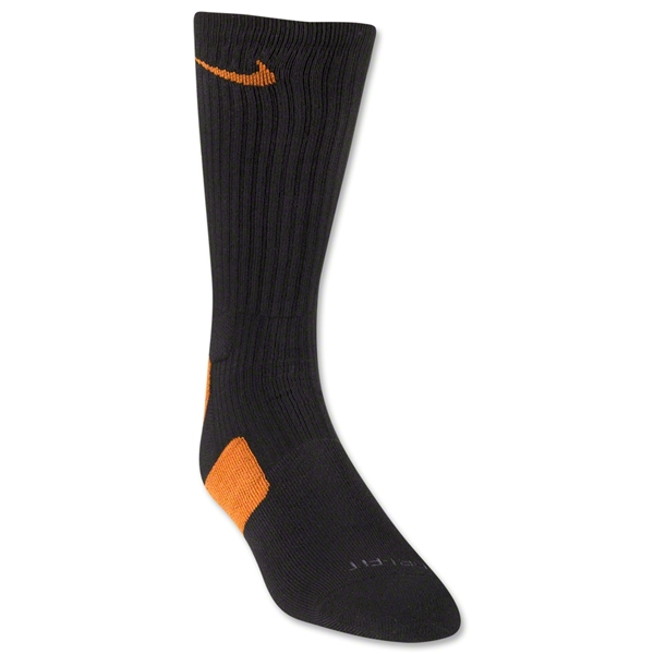 Nike Elite Crew Sock (Black/Orange)