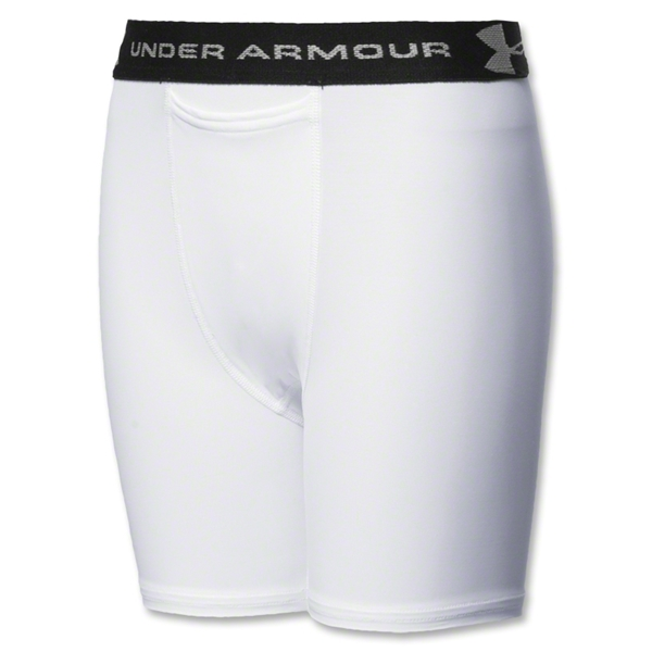 Under Armour Boy's HeatGear Compression Short (White)