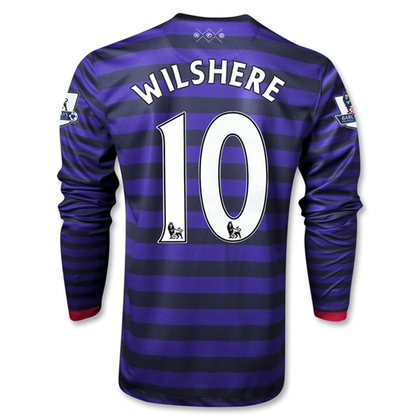 Arsenal 12/13 WILSHERE LS Away Soccer Jersey