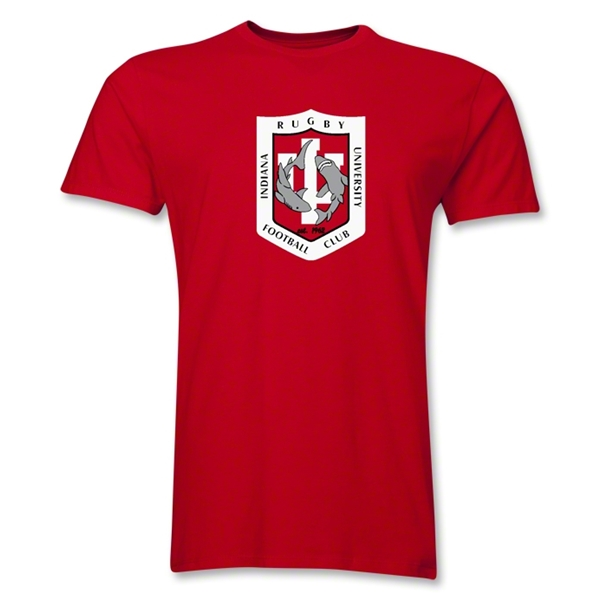 Indiana University Rugby Men's Fashion T-Shirt (Red)