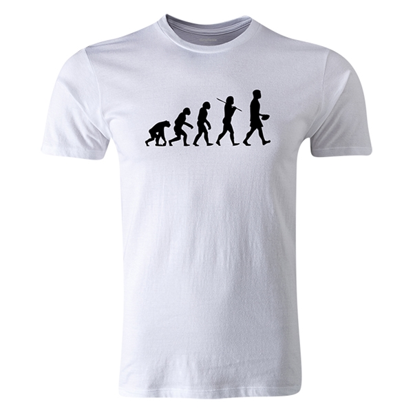 dumpTackle Evolution of Man T-Shirt (White)