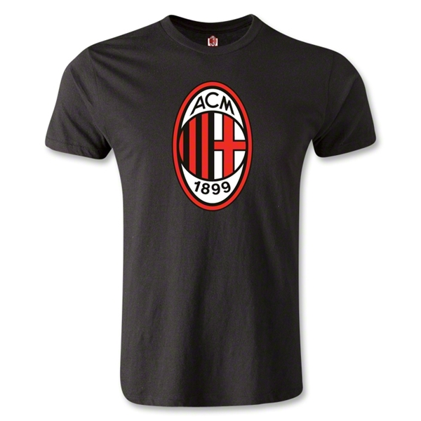 AC Milan Logo Men's Fashion T-Shirt (Black)