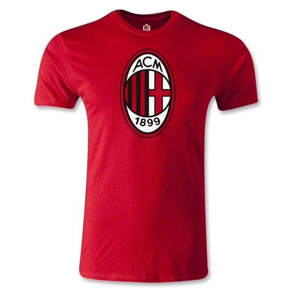 AC Milan Logo Men's Fashion T-Shirt (Red)