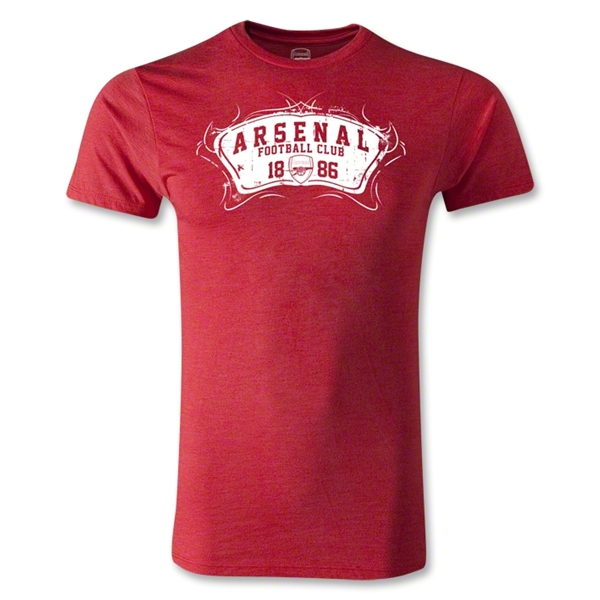 Arsenal Football Club Men's Fashion T-Shirt (Heather Red)