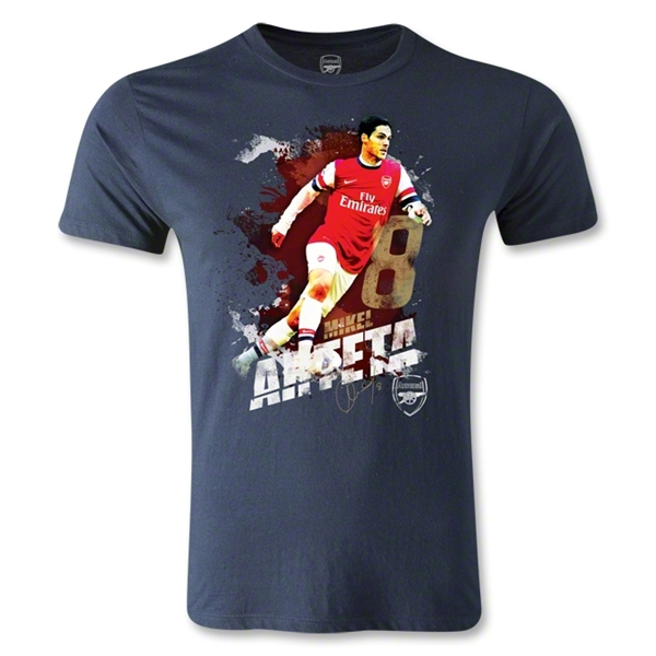 Arsenal Arteta Player Men's Fashion T-Shirt (Navy)