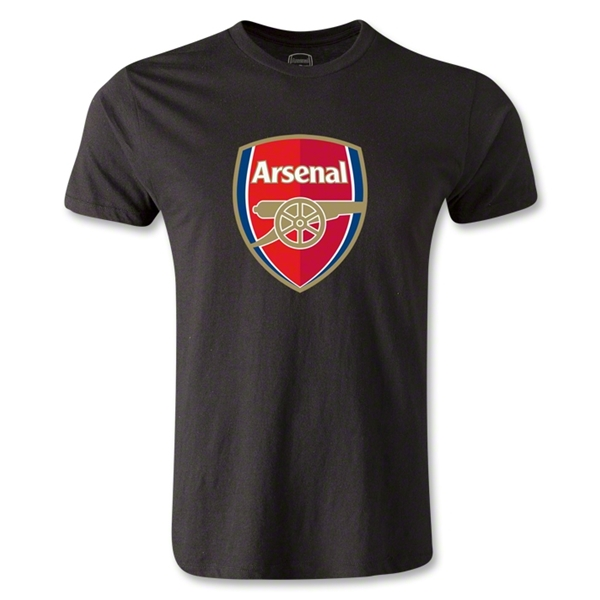 Arsenal Crest Men's Fashion T-Shirt (Black)