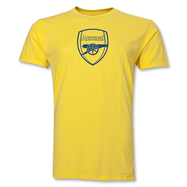 Arsenal Crest Men's Fashion T-Shirt (Yellow)