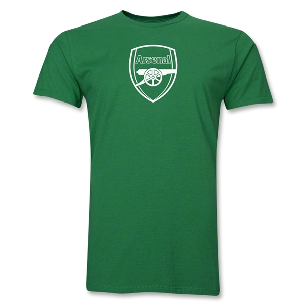 Arsenal Crest Men's Fashion T-Shirt (Green)