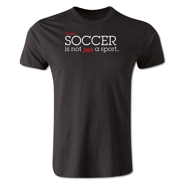 America Scores Soccer Poetry T-Shirt (Black)
