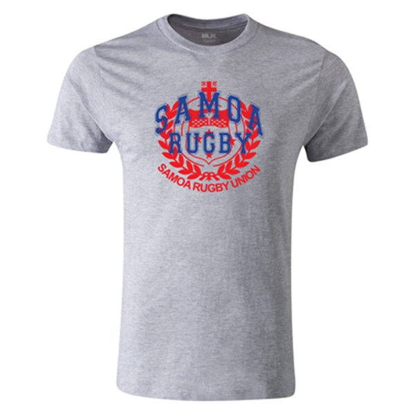 Samoa Union Crest Premier Supporter T-Shirt (Gray)
