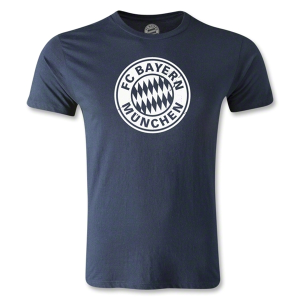 Bayern Munich Logo Men's Fashion T-Shirt (Navy)