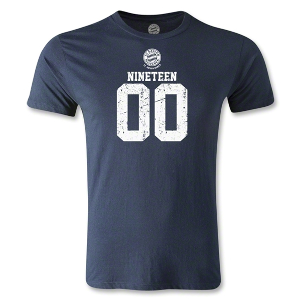Bayern Munich Distressed 1900 Men's Fashion T-Shirt (Navy)