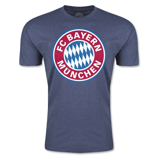 Bayern Munich Logo Men's Fashion T-Shirt (Blue)
