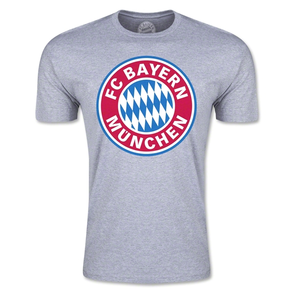 Bayern Munich Logo Men's Fashion T-Shirt (Gray)