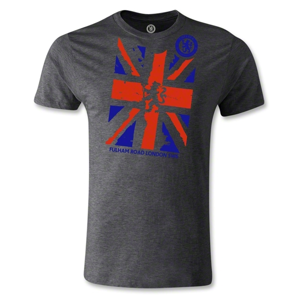 Fulham Road London Flag Men's Fashion T-Shirt (Dark Gray)