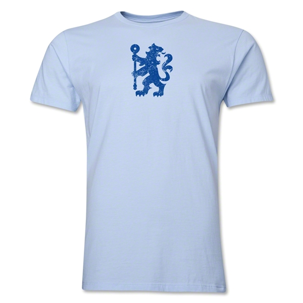 Chelsea Distressed Lion Men's Fashion T-Shirt (Sky Blue)