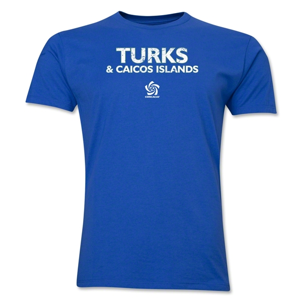 Turks & Caicos Islands CONCACAF Distressed Men's Fashion T-Shirt (Royal)