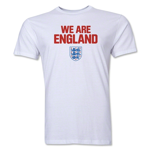 England We Are Men's Fashion T-Shirt (White)